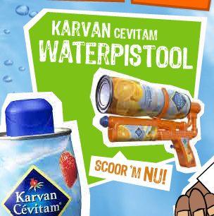 Slim ding van Karvan Cevitam: een waterpistool