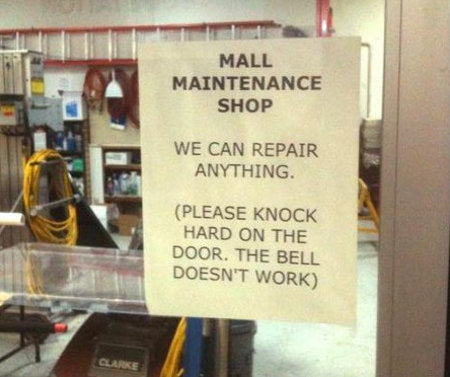 Maandagmorgenhumor: maintenance fail