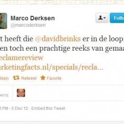 Mooi compliment van Marco Derksen