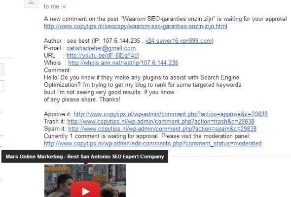 Waarom plaats je spam als SEO-bedrijf?